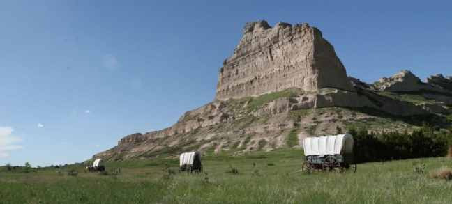 Visit Scotts Bluff National Monument with kids for Pioneer History.
