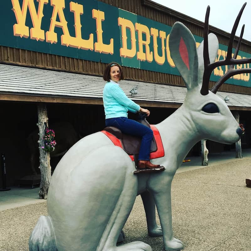 Kids And Moms Love The Jacklope In The Backyard Of Wall Drug In South  Dakota. Part 43
