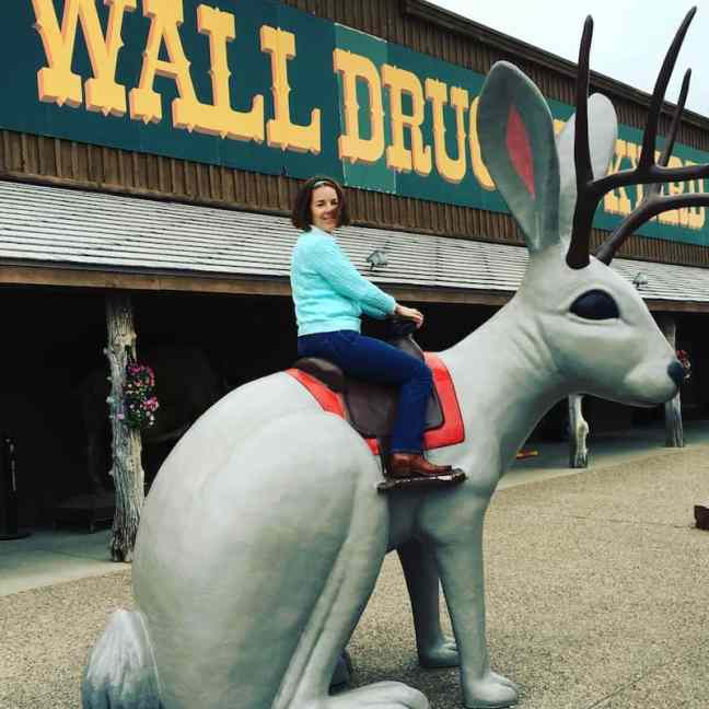 Hop on the Jackalope at Wall Drug in South Dakota.
