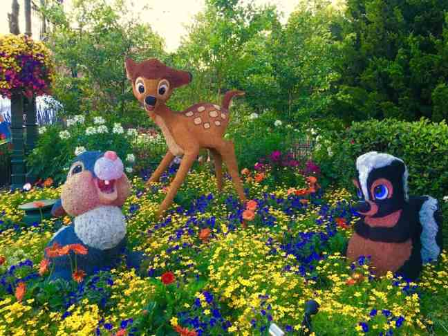 Thumper and Bambi are all-time favorites at Epcot's Flower and Garden Festival with Kids.