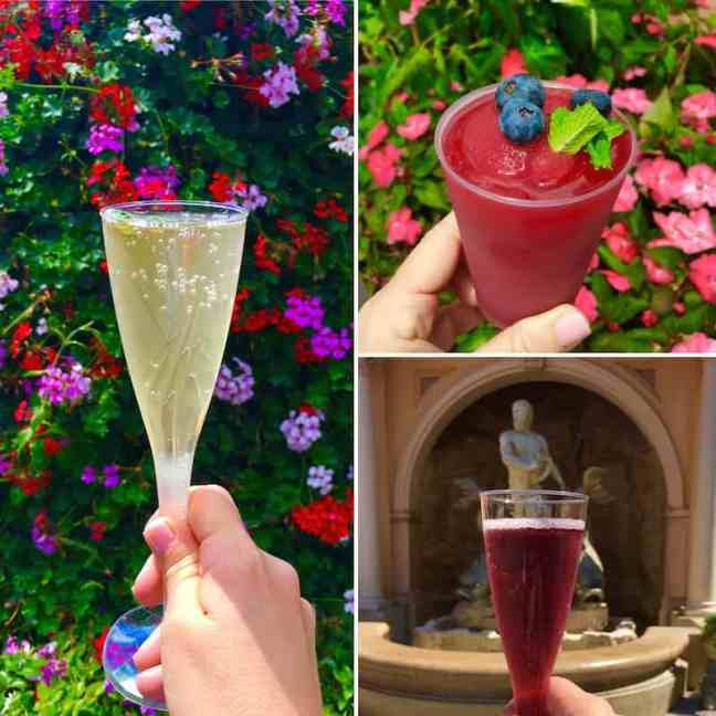 Sip a cocktail while strolling among the flowers at Epcot's Flower and Garden Festival.