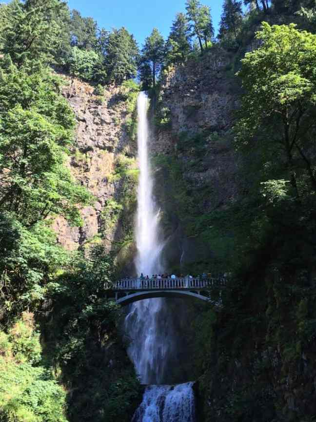 Visit Multnomah Falls when you explore the Columbia River Gorge with kids.