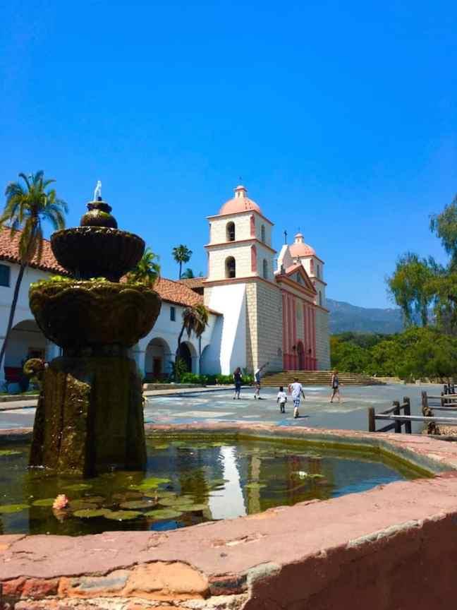 Old Mission Santa Barbara. Where to go with kids in Santa Barbara.