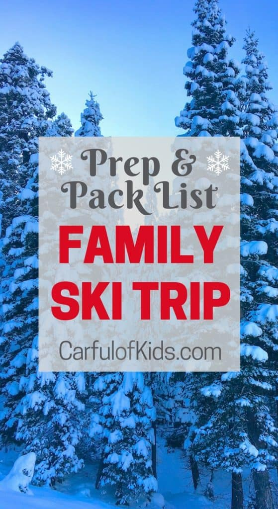 The Kids voted and they want to go skiing. Time to Prep and Pack for the family ski trip with all the gear for staying warm, packing a snack bag and even making a rental condo feel like home.