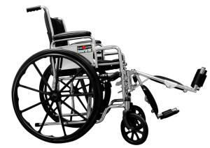 Silla de ruedas universal tipo 2, marca Everest & Jennings