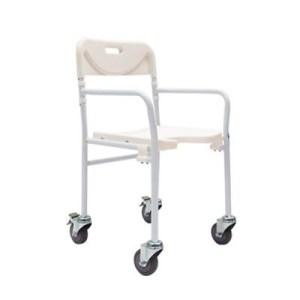 Silla ducha plegable con ruedas