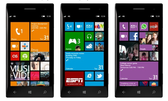 Windows Phone 8 colores