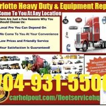 Charlotte heavy duty semi truck and equipment repair service