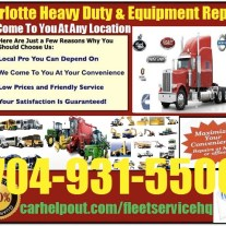 Charlotte heavy duty semi truck and equipment repair service
