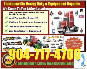 Jacksonville heavy duty semi truck and equipment repair service