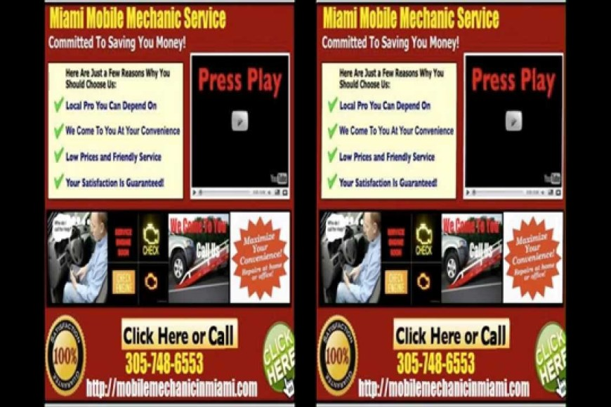 Mobile Mechanic In Miami Florida Auto Car Repair Service