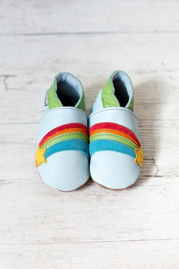 Rainbow pale blue inch blue shoes