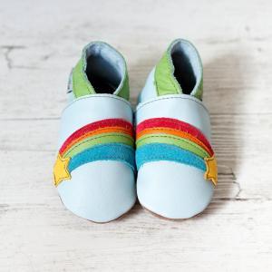 Rainbow pale blue inch blue shoes