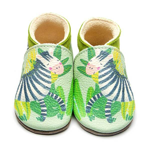 zebra-green-leather-inchblue-baby-shoe