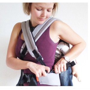 woman with cross strap