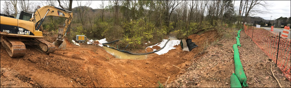 Red Bank Stream Bed Restoration Project -- BEFORE