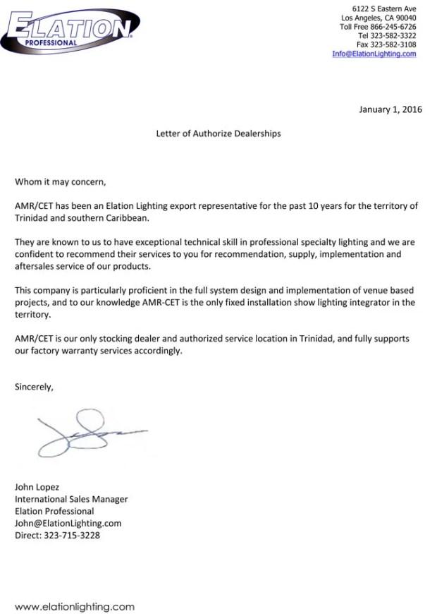 AMR-CET-Elation-Letter