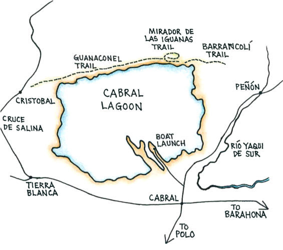 Cabral Lagoon (Map by Dana Gardner)
