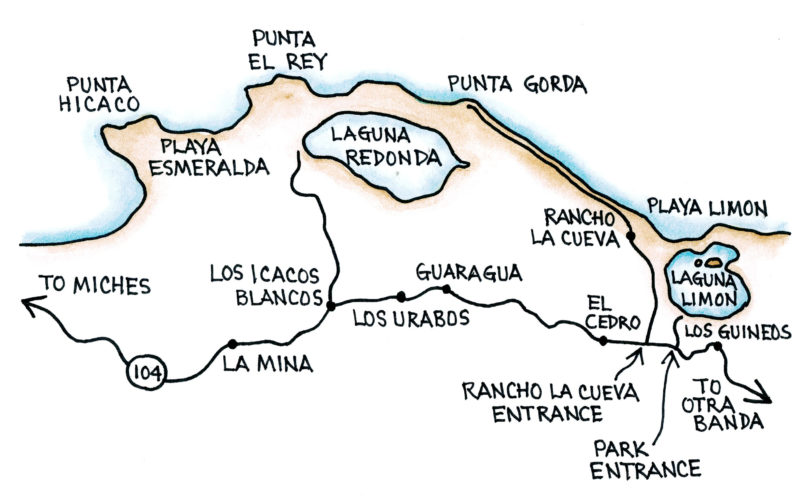 Redonda and Limón (Map by Dana Gardner)