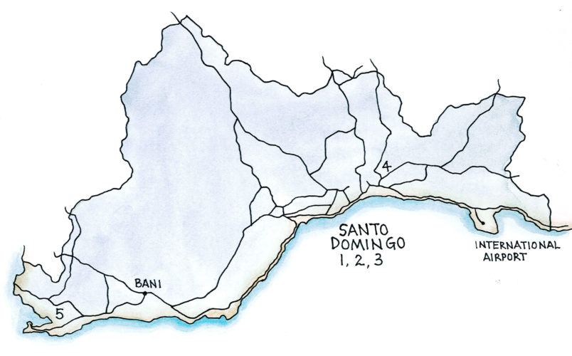 Santo Domingo Region (Map by Dana Gardner)