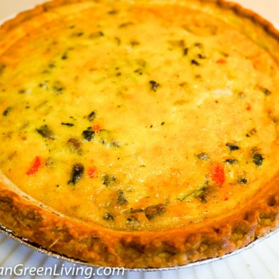Parmesan Veggie Quiche