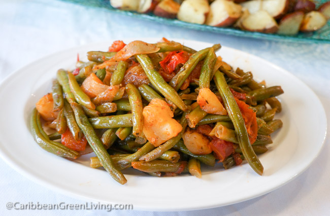 String Beans with Tomato and Apple