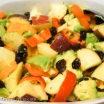 Avocado, Pepper, Apple, and Cranberries Salad