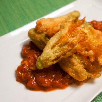 Zucchini Flowers Fritters