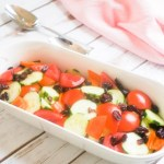 Cucumber, Tomatoes, Sweet Peppers and Dried Cranberries Salad