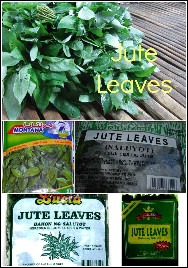 Various forms of Jute Leaves