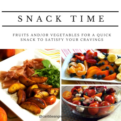Snack time with fruits or vegetables