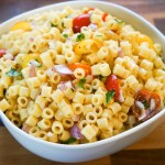 Ditalini Pasta salad with Passion Fruit Vinaigrette