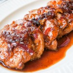 Citrus-Marinated Pork Chops with Tamarind Shallots Sauce