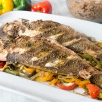 Roasted Red Snapper with Bell Peppers