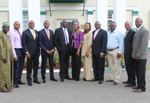 Delegates pose with Nigeria Deputy High Commissioner outside Nigeria High Commission