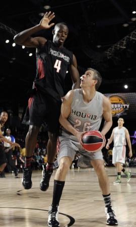 Usain Bolt at celebrity basketball match
