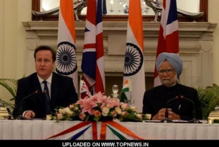 British Prime Minister David Cameron with India Prime Minister, Manmohan Singh