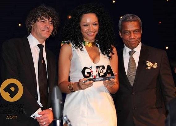 Shaun Campbell, Award winner Kanya King of MOBO and GUBA Patron, actor Hugh Quarshie