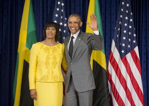 Prime Minister Simpson-Miller and President Obama. Photo courtesy www.washingtontimes.com