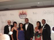 30th Mayors Mask Ball Atlanta;UNCF President Dr. Michael Lomax, Mrs. Cheryl Lomax, Vice President, Bank of America, Danielle Green DDS, Bahamas Consul General The Honorable Randy Rolle, Sarah Langford and Atlanta Mayor Kasim Reed at the 30th Annual UNCF Mayor's Masked Ball.