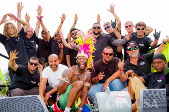 Actor Rob Riley and Crew:Miami Carnival 2015: CMNUSA Photo Credit: Augustus Laurecin