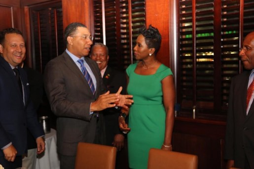 Prime Minister Holness and Alrene Barr