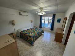 Blue house master bedroom