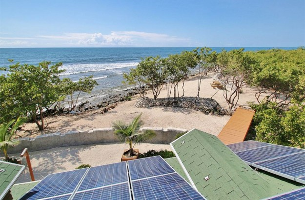 The bungalow is solar-powered.