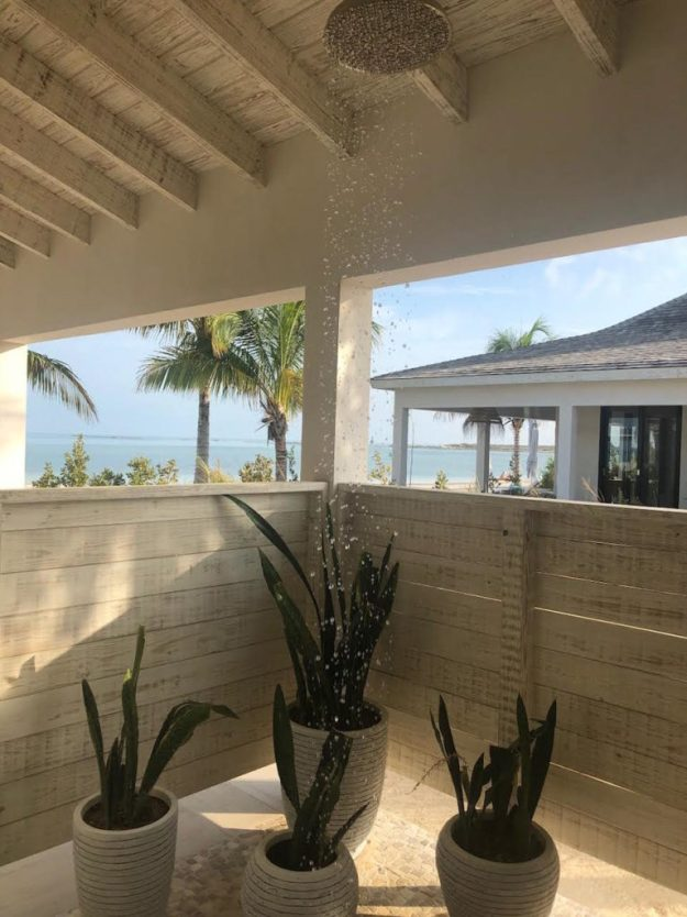 all-inclusive turks and caicos shower