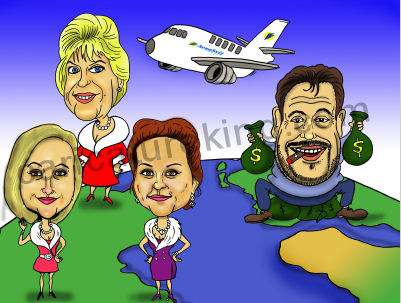 rich mans women caricature