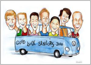 seniors graduation caricature