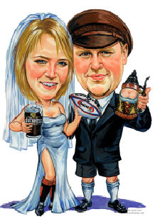beer at wedding