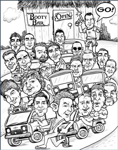 group groomsen caricature