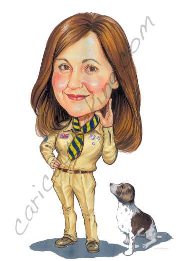 scout caricature